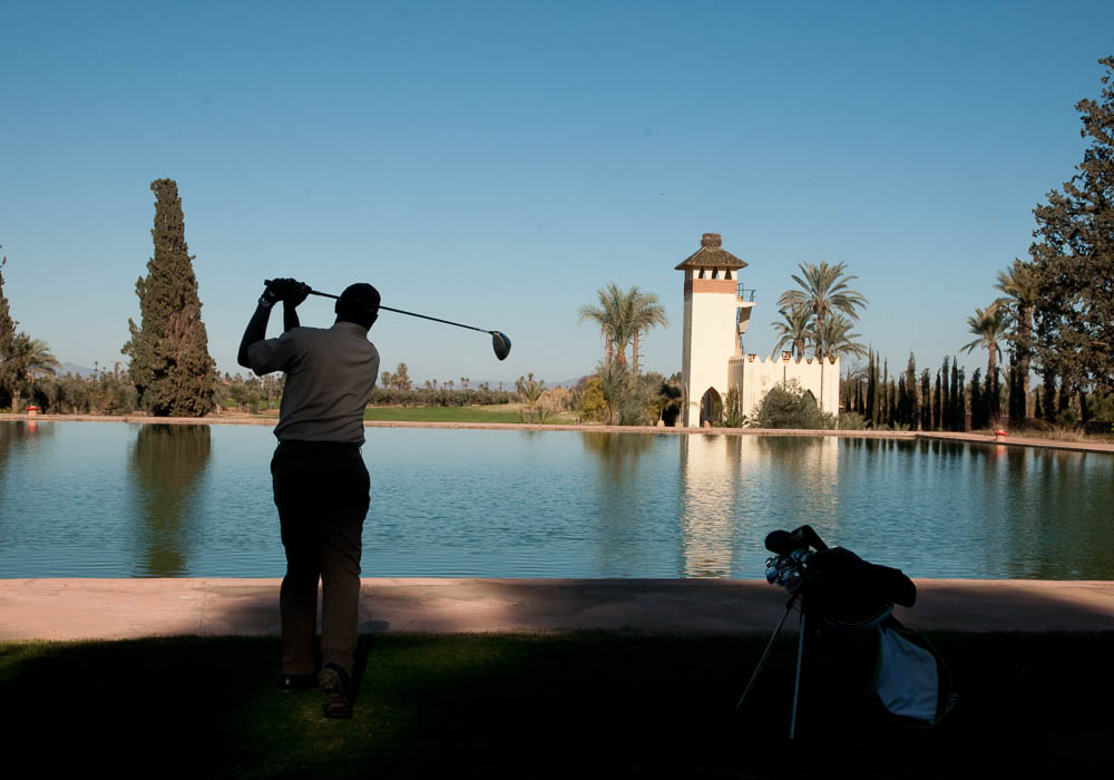 Water hazard on the Golf Royal Marrakech