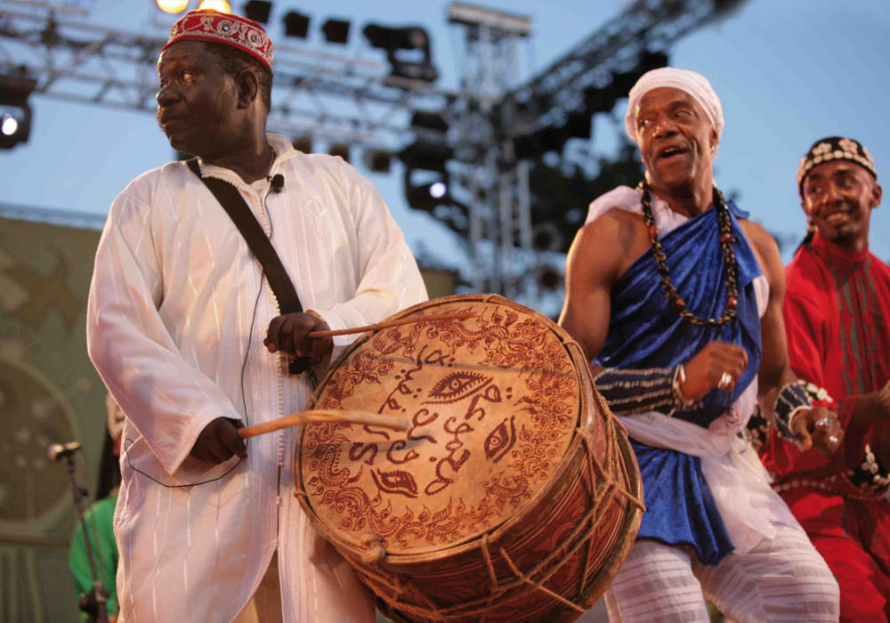 Musicians at the Gnaoua Festival Essaouira