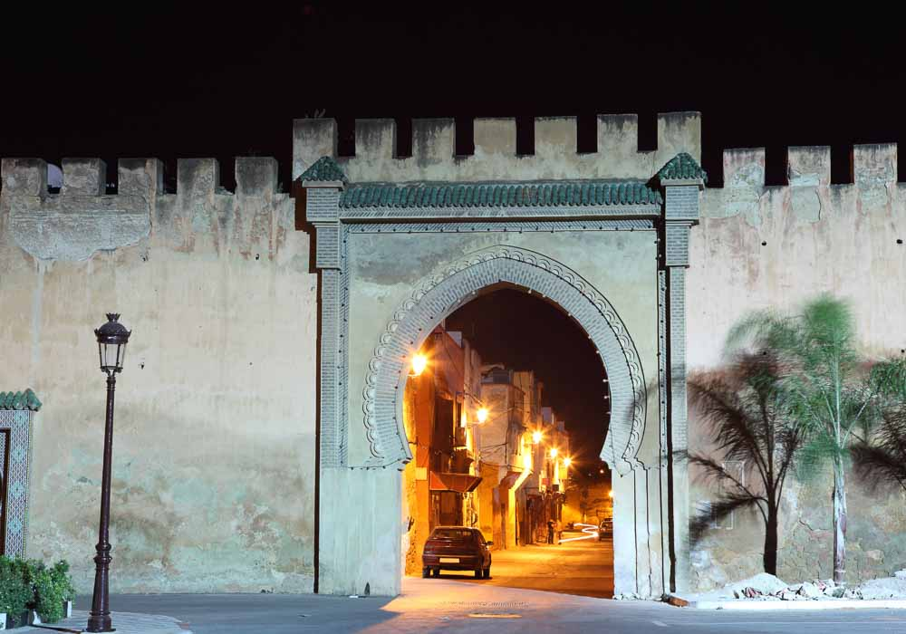 Meknes old town gate