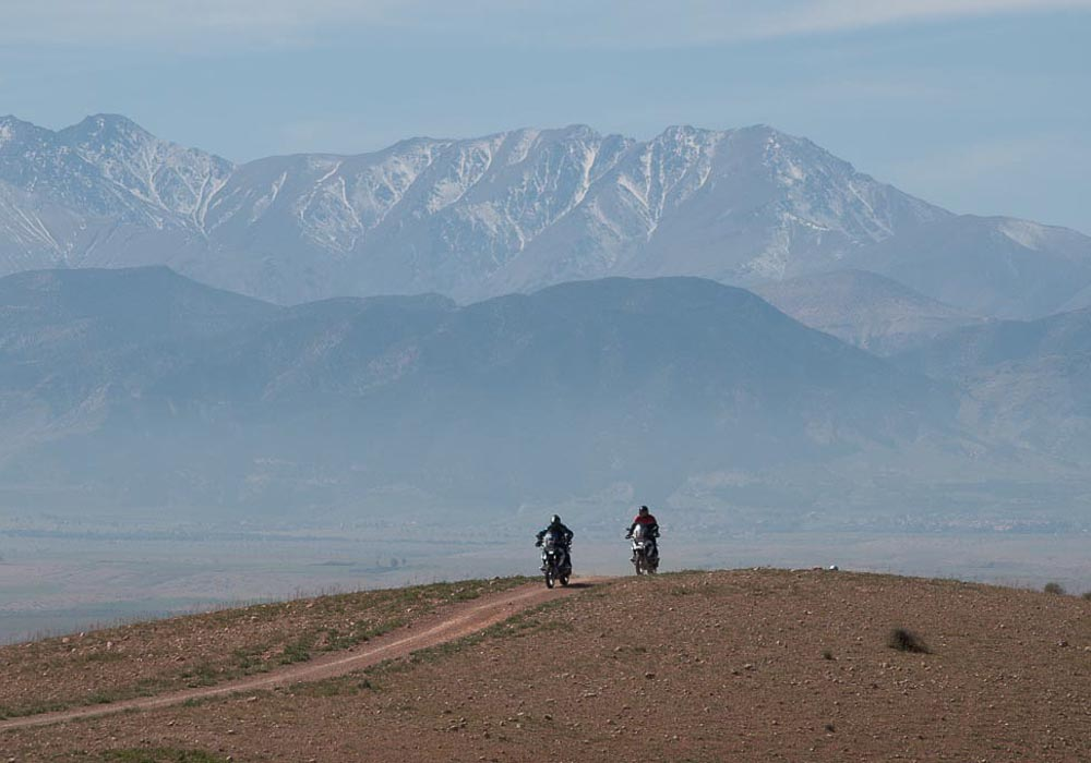 Travelling around Marrakech on a motorbike is a time honoured tradition