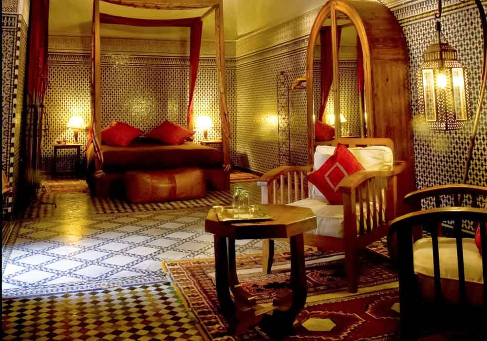 Stay in opulent surroundings when you visit Fez