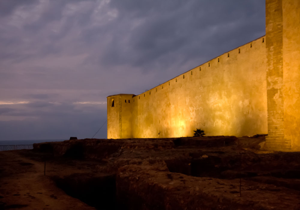The walls of the Kasbah of the Udayas