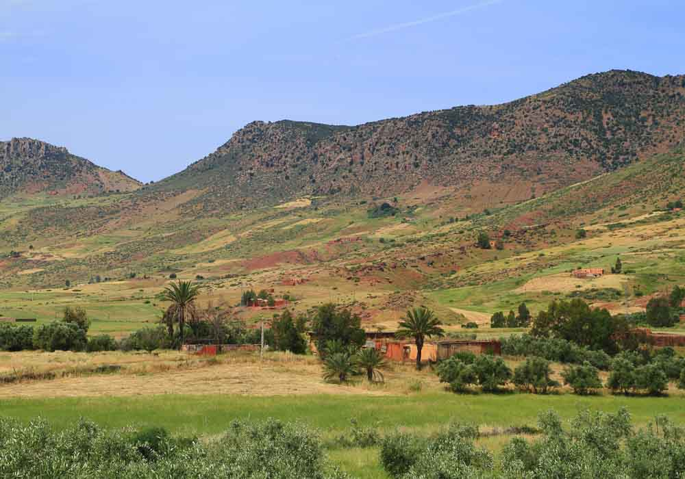 Moroccan Fields in Atlas Mountains