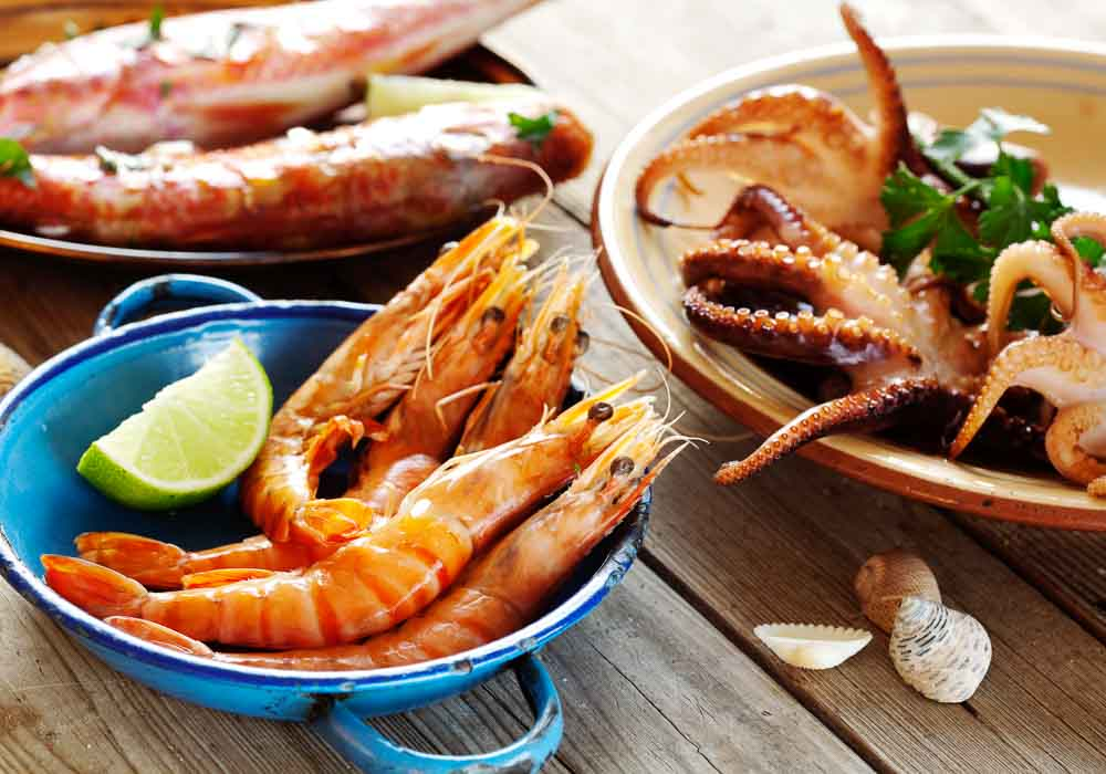 PLates of seafood