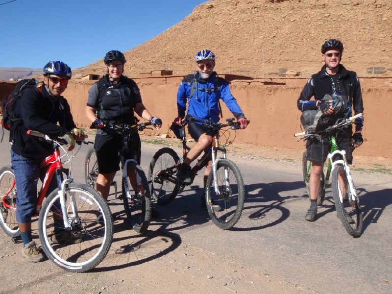 cyclists in morocco