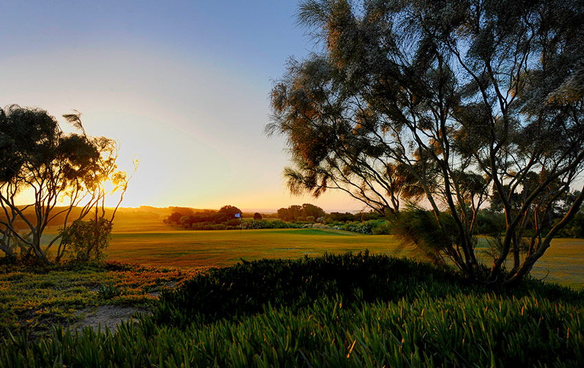 sunset over mogador golf course