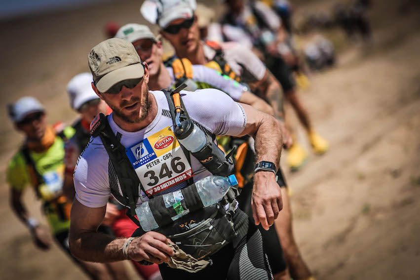 GBR runner at front of Marathon des Sables