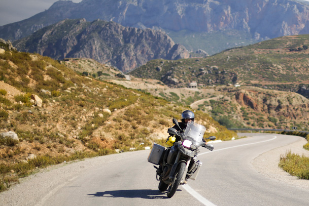 jorge valente on motorcycle tour through morocco