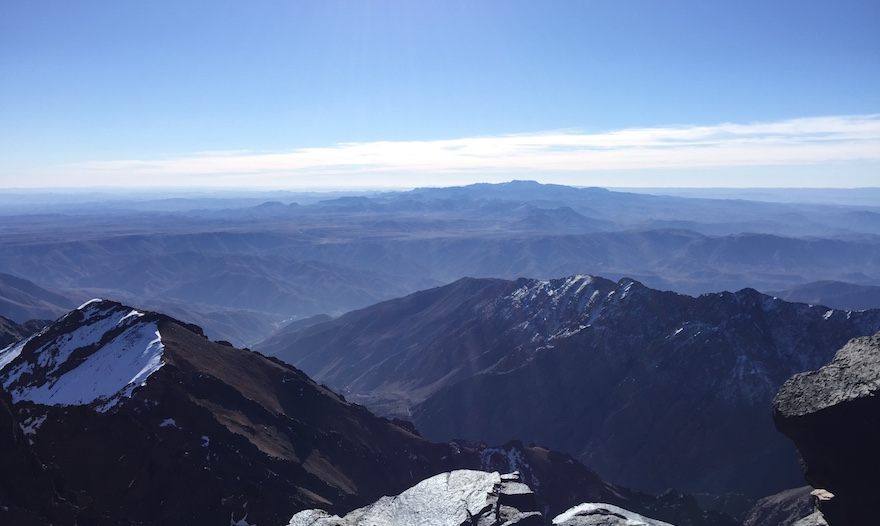 The view from the top of Mount Toubkal
