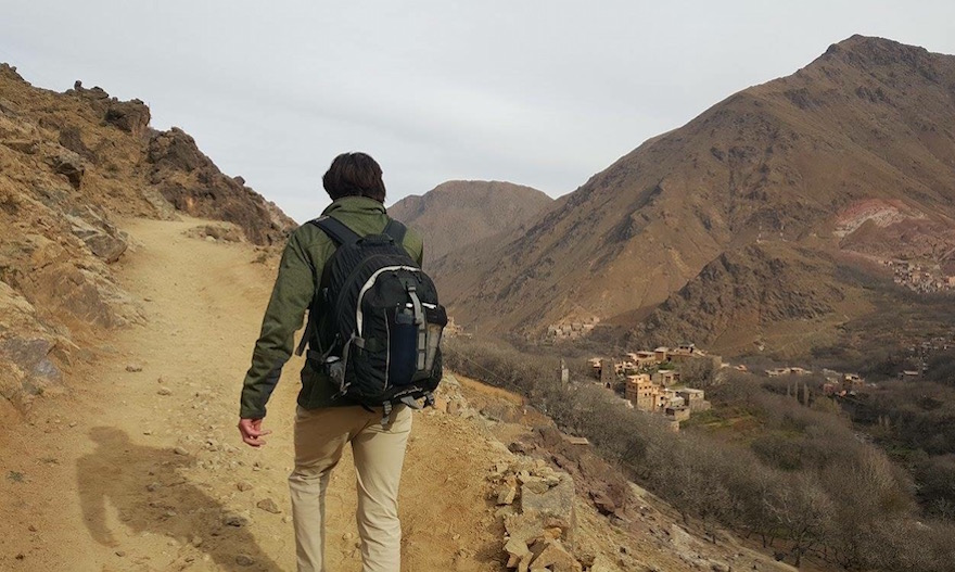 Climbing the foothills of Mount Toubkal