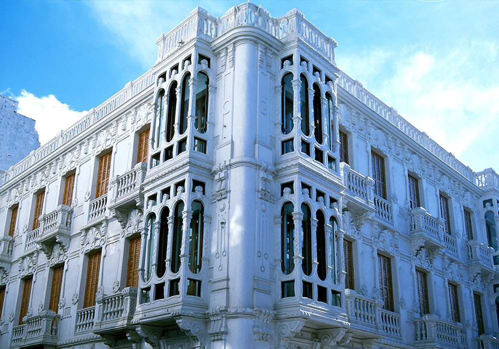 Colonial architecture is easily found in Tetouan
