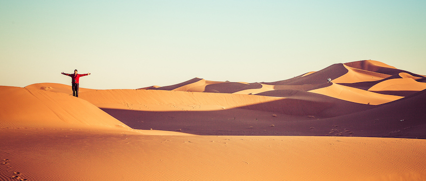 Man in the Sahara