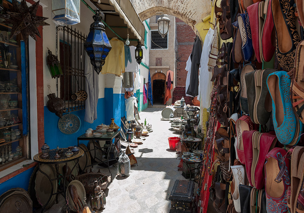 Asilah is full of craft and art wherever you go