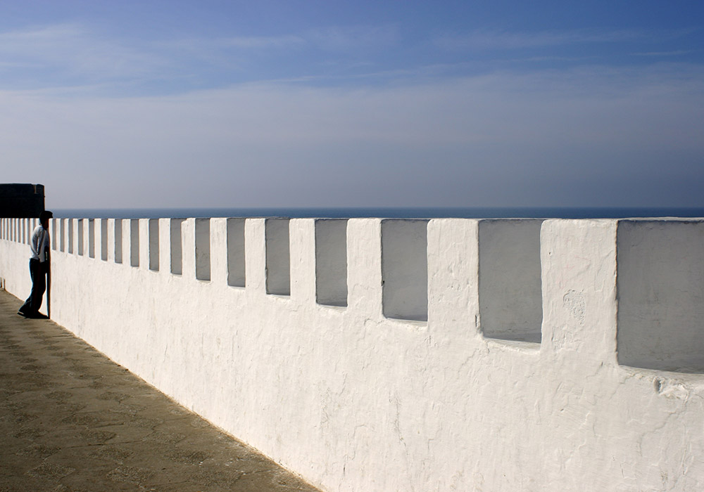 The Portuguese ramparts still guard the city from the sea