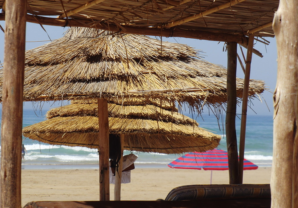 Relax under some handily placed sunshades