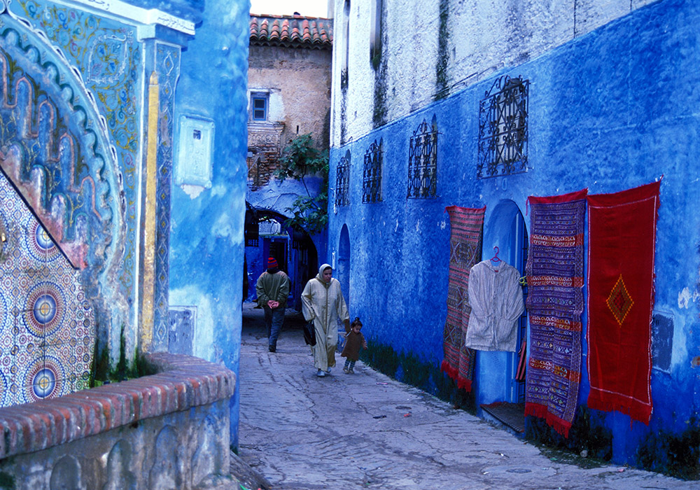 The famous blue streets of Chefchaouen