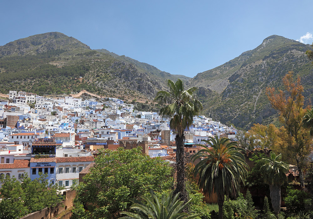 Large groves of trees surround Tetouan