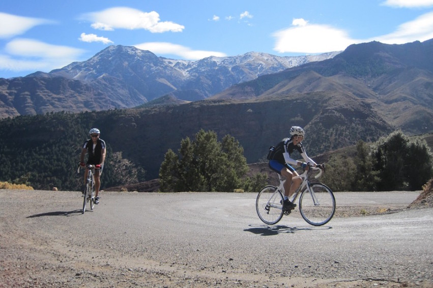 Cycling in the Atlas mountains