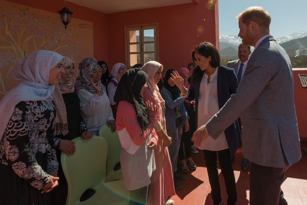 The Duke and Duchess of Sussex visiting Morocco