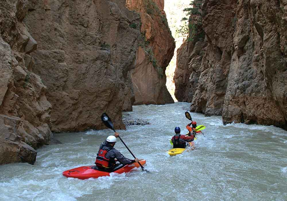 Rafting in the Atlas mountains